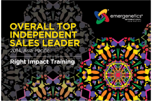 Emergenetics Top Independent Sales Leader (Asia-Pacific 2014 Award Winner)